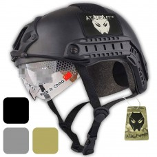 ATAIRSOFT MH Type Tactical Fast Helmet w/Protective Goggles Version