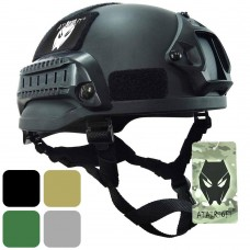 ATAIRSOFT PJ Type Tactical Airsoft Paintball MICH 2002 Helmet with Side Rail & NVG Mount
