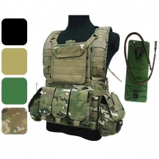 ATAIRSOFT Tactical Airsoft Hunting Miltary MOLLE Vest with Hydration Water Reservoir