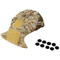 ATAIRSOFT Airsoft Tactical Helmet Cover para PJ//BJ//MH Tipo Casco r/ápido con Bolsa Trasera Desert Digital