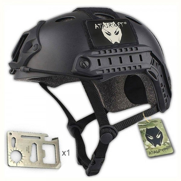 ATAirsoft PJ Type Tactical Fast Helmet Low Price Version Black